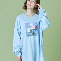 Charlott mei×little sunny bite flower long tee