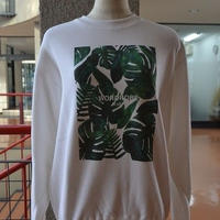 natural leaf crew neck