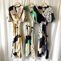 DAZZLE・Print Cache Coeur Long Dress
