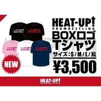 【NEW】BOXロゴTシャツ【ホワイト×ホットピンク】