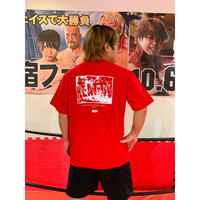 "【NEW】""サバイバル""バックプリントTシャツ【レッド】"