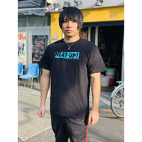 【発掘!残りわずか】BOXロゴTシャツ【ブラック×アクア】