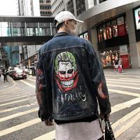 ストリート系 HipHop デニムジャケット ビッグロゴ