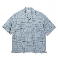 RADIALL WALLTAG – OPEN COLLARED SHIRT S/S (Blue)