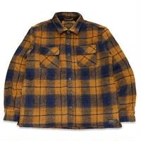 "KUSTOMSTYLE  ""C10"" BOA LINED CHECK JACKET YELLOW"