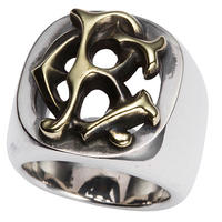CRIMIE CR RING LOGO RING SILVER925×BRASS