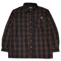 "KUSTOMSTYLE""LYNWOOD"" WOOL BOARD SHIRTS BROWN"