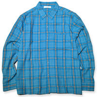 RADIALL  TROPHY TAKER-OPEN COLLARED SHIRT L/S   BLUE