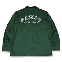 "KUSTOMSTYLE ""MI VIDA LOCA"" L/S WORK SHIRTS GREEN"