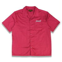 "KUSTOMSTYLE ""BUD"" SHORT SLEEVE WORK SHIRTS BURGUNDY"