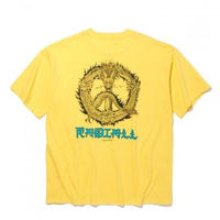 RADIALL PEACE ROSE - CREW NECK POCKET T-SHIRT S/S YELLOW