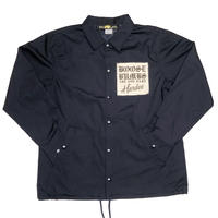 "HARDEE  ""TWIST"" COACH JACKET NAVY"