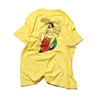 CUTRATE PINUP GIRL T-SHIRT YELLOW