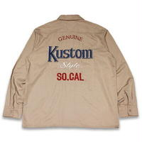 "KUSTOMSTYLE ""MODELO"" L/S WORK SHIRTS BEIGE"