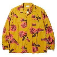 RADIALL  CHEVY ROSE - OPEN COLLARED SHIRT L/S MUSTARD