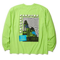 RADIALL COSMIC GYPSIES - CREW NECK T-SHIRT L/S LIME GREEN