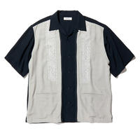 RADIALL  ZENITH - OPEN COLLARED SHIRT S/S   NVY