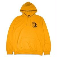 "KUSTOMSTYLE  ""PRAY FOR US SINNERS"" PULLOVER HOODIE GOLD"