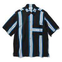 RADIALL  AZTEC - REGULAR COLLARED SHIRT S/S  BLACK