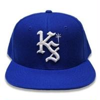 "KUSTOMSTYLE  ""LOCK CITY"" SNAP BACK CAP ROYAL BLUE"