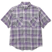 RADIALL COMPTON - REGULAR COLLARED SHIRT S/S PURPLE HAZE