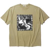 RADIALL  NICE DREAM - CREW NECK T-SHIRT S/S KHAKI
