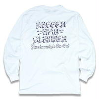 "KUSTOMSTYLE""BAGGED AND SLAMMED"" LONG SLEVE TEE  WHITE"