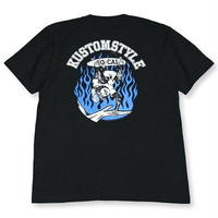 "KUSTOMSTYLE ""SKATE MONKEY"" TEE  BLACK"