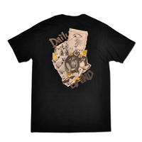 HARDEE DAILY GRIND POCKET T-SHIRT BLACK