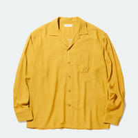 RADIALL REGAL-REGULAR COLLARED SHIRT L/S MUSTARD
