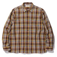 RADIALL EL CAMINO - OPEN COLLARED SHIRT L/S BROWN