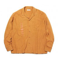 RADIALL  HARVEST - OPEN COLLARED SHIRT L/S YEL