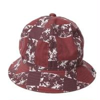CUTRATE PRINT CHECK METLO HAT BURGUNDY CR-16S033