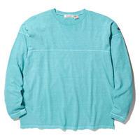RADIALLEL CAMINO - CREW NECK T-SHIRT L/S TURQOISE BLUE