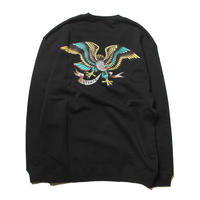 CUTRATE EAGLE CREW SWEAT BLACK