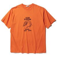 RADIALL NEW LIFERS - CREW NECK T-SHIRT S/S ORANGE