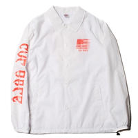 CUT RATE NYLON COACH JACKET WHITE 18AW008