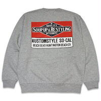 "KUSTOMSTYLE ""SOUP UP&RESTYLING"" CREW NECK GRAY"
