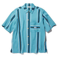 RADIALL  AZTEC - REGULAR COLLARED SHIRT S/S  BLUE