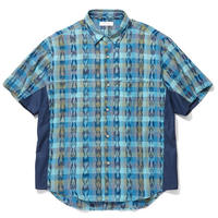 RADIALL EL CAMINO - REGULAR COLLARED SHIRT S/S TURQUOISE GREEN