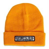 "KUSTOMSTYLE  ""HUNTINGTON BEACH CA"" BEANIE GOLD"
