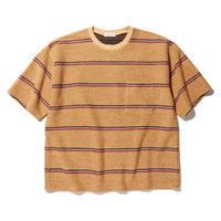 RADIALL SKUNK - CREW NECK POCKET T-SHIRT S/S  ORANGE
