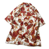 CUTRATE ALLOVER PATTERN S/S SHIRT BURGUNDY