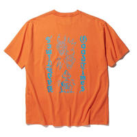 RADIALL   TWO FACE - CREW NECK T-SHIRT S/S ORANGE