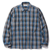 RADIALL EL CAMINO - OPEN COLLARED SHIRT L/S BLUE