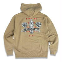 "KUSTOMSTYLE  ""PARADISE CITY"" PULLOVER HOODIE SAND KHAKI"