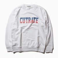 CUTRATE LOGO CREW NECK SWEAT WHITE