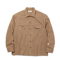 RADIALL  IMPERIAL - OPEN COLLARED SHIRT L/S MUSTARD