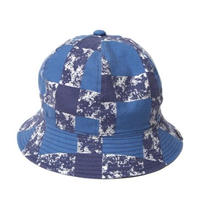 CUTRATE PRINT CHECK METLO HAT BLUE CR-16S033