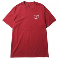 BORN X RAISED ROCKER TEE BURGUNDY #38601
